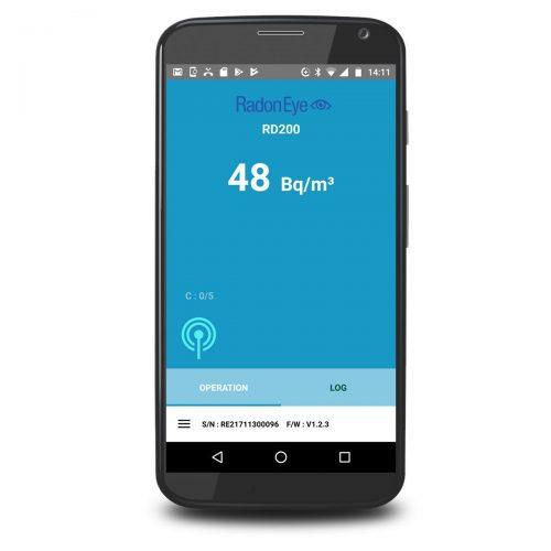 Radon Messung / Radonmessgerät mit App