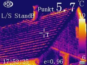 Thermografie, Wärmebild eines Hauses