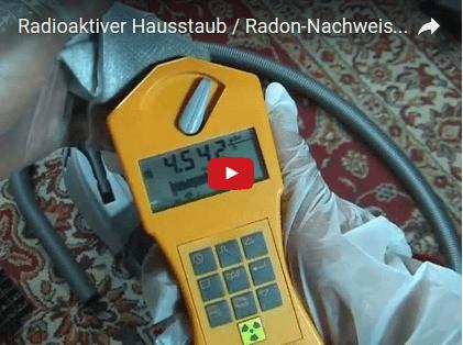 Radon Test mit Geigerzähler