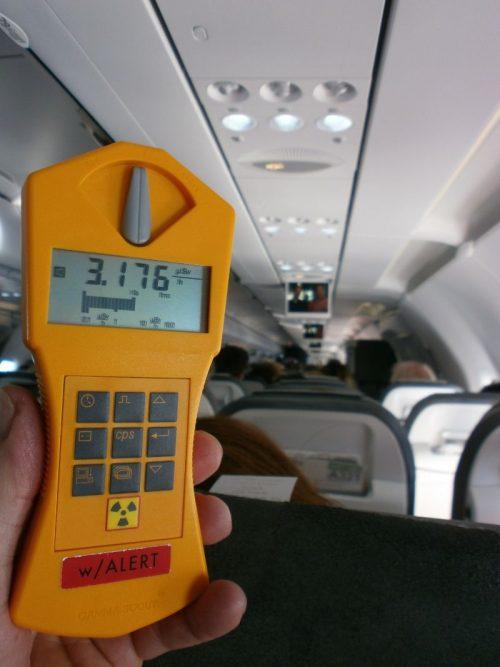 Höhenstrahlung, Strahlenbelastung im Flug