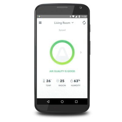 App Luftqualität Bildschirmfoto