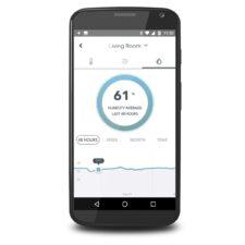 Bildschirmfoto App Luftfeuchtigkeit