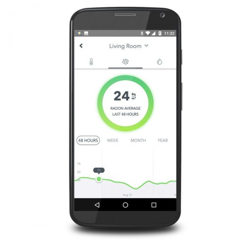 App Radon Konzentration Bildschirmfoto