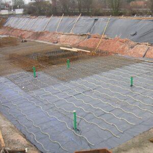 Gasdichte Folie unter der Bodenplatte - Radon Barriere