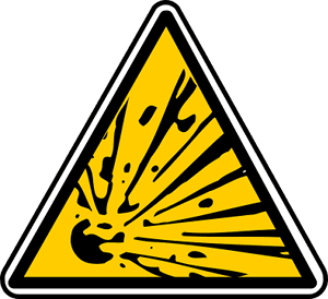 Warnung explosiv
