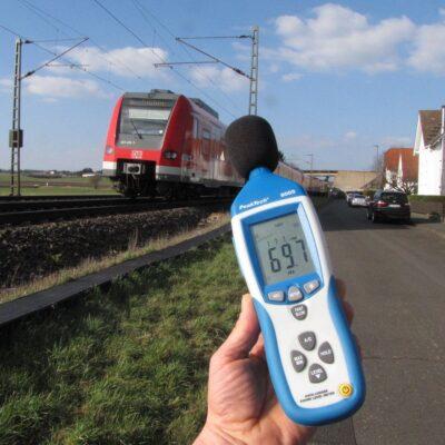 Schallpegelmessgerät Beispiel Bahn