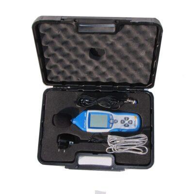 Schallpegelmessgerät im Koffer mit Zubehör